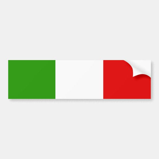 Italian Flag Bumper Sticker