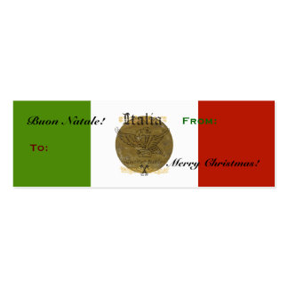 Italian flag Buon Natale Christmas Gift Tag Business Card