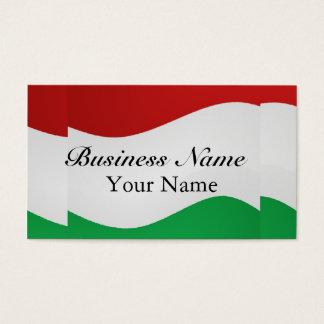Italian Flag Business Card