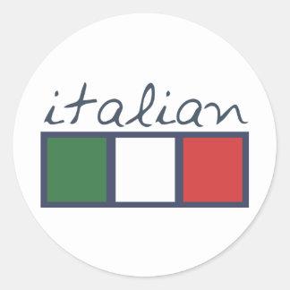 Italian flag colors! round sticker
