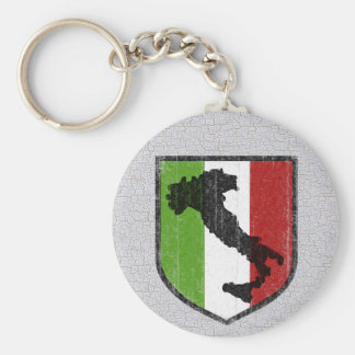 Italian Flag Crest Boot Medieval Key Ring