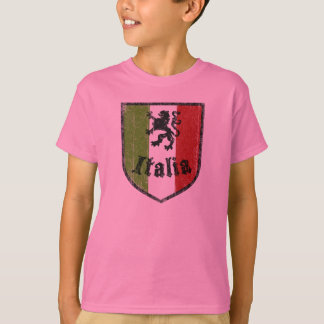 Italian Flag Crest Kids T-Shirt