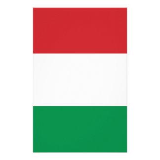 Italian flag customized stationery