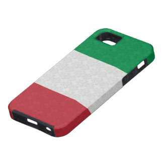 Italian Flag Damask Pattern Tough iPhone 5 Case
