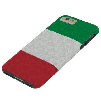 Italian Flag Damask Pattern Tough iPhone 6 Plus Case