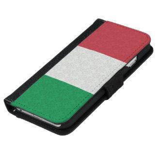 Italian Flag Damask Pattern iPhone 6 Wallet Case