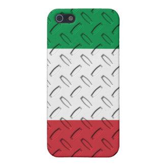 Italian Flag Diamond Plate  Cover For iPhone 5/5S
