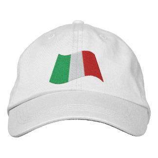 Italian Flag Embroidered Baseball Caps