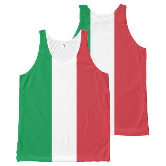 Italian Flag - Flag of Italy - Italia All-Over Print Singlet