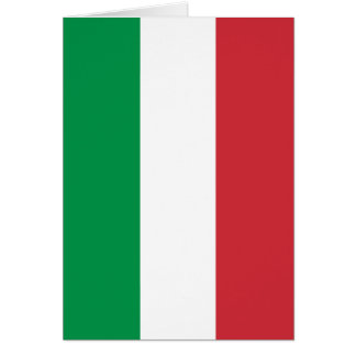 Italian Flag - Flag of Italy - Italia Card