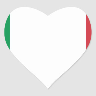 Italian Flag - Flag of Italy - Italia Heart Sticker