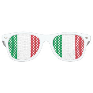 Italian Flag - Flag of Italy - Italia Retro Sunglasses