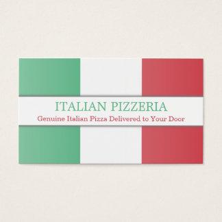 Italian Flag, Fully Customizable Business Card