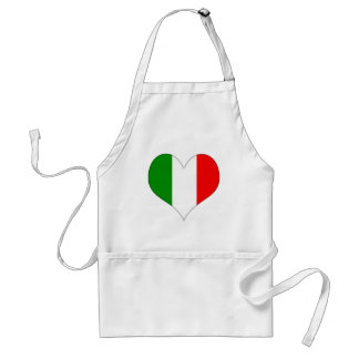 Italian Flag Heart Apron