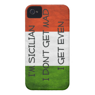 Italian  Flag I don't get mad I get even iPhone 4 Cases