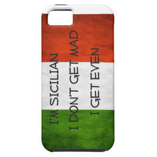 Italian  Flag I don't get mad I get even iPhone 5 Cover
