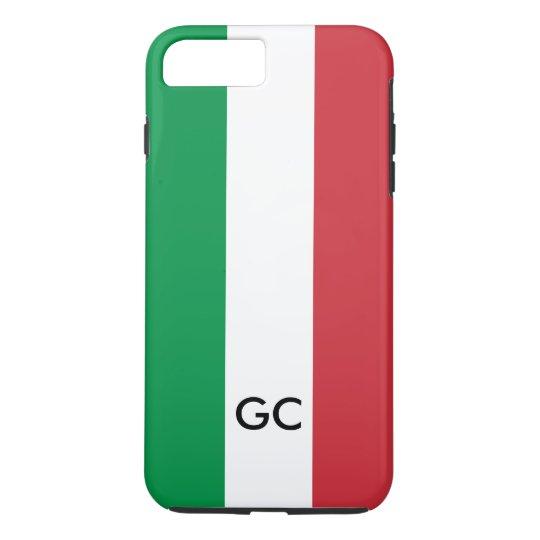 Italian flag Italy pride personalised monogram iPhone 7 Plus Case