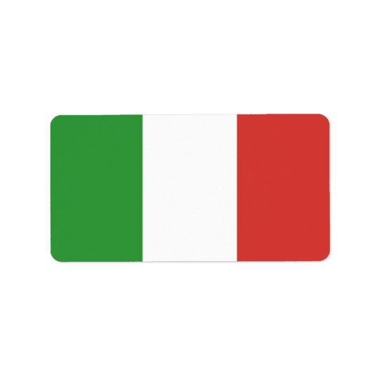 Italian Flag Label