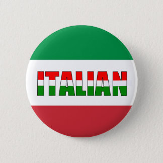 Italian Flag of Italy 6 Cm Round Badge