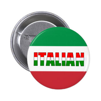 Italian-Flag of Italy! 6 Cm Round Badge
