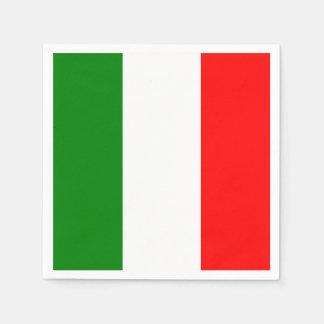 Italian Flag of Italy Bandiera d'Italia Napkin Disposable Napkins