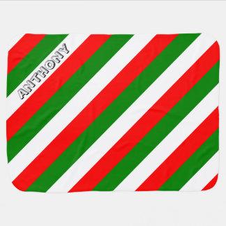 Italian Flag of Italy bandiera d'Italia Tricolore Baby Blanket