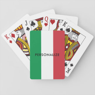 Italian flag of Italy custom playing cards