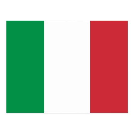 Italian flag of Italy custom postcards