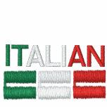 Italian-Flag of Italy Embroidered Hooded Sweatshirts