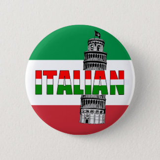 Italian Flag of Italy Pisa 6 Cm Round Badge