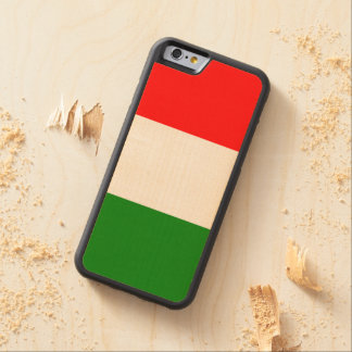 Italian Flag of Italy Wooden iPhone 6 Case