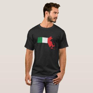 Italian Flag over Massachusetts T-Shirt