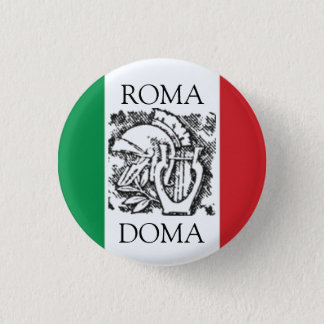 italian flag  ROMA, DOMA 3 Cm Round Badge