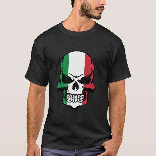 Italian Flag Skull T-Shirt
