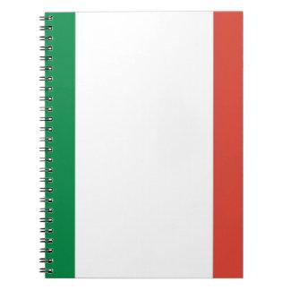 italian flag spiral notebook