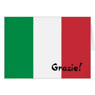 Italian Flag Thank You Card