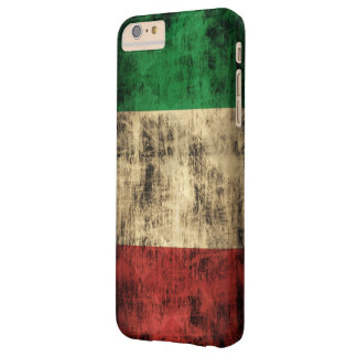 Italian Flag Vintage Grunge Barely There iPhone 6 Plus Case
