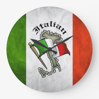 Italian Flag Wall Clock Italy