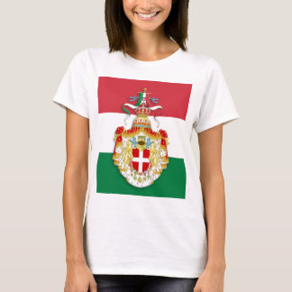 Italian Flag with insignia of the Kingdom of Italy T-Shirt