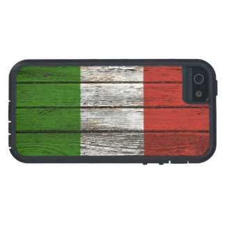 Italian Flag with Rough Wood Grain Effect Case For The iPhone 5