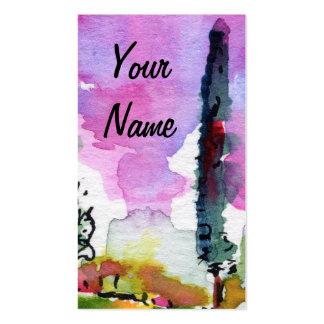 Italian Flair Artsy Watercolor Business Card