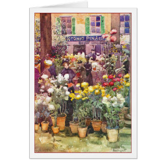 Italian Flower Market by Maurice Prendergast Card