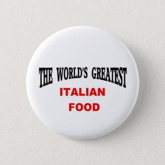 Italian food 6 cm round badge