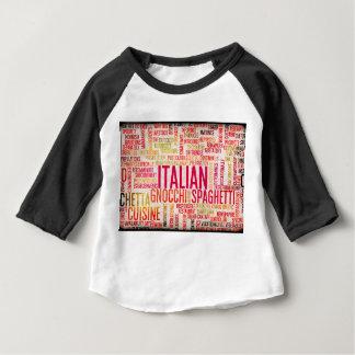 Italian Food and Cuisine Menu Background Baby T-Shirt