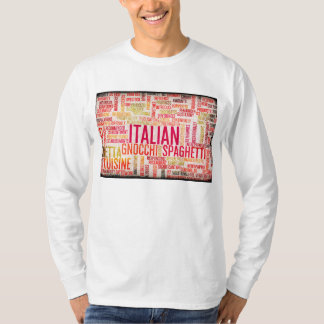 Italian Food and Cuisine Menu Background T-Shirt