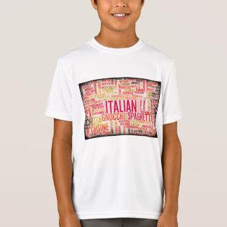 Italian Food and Cuisine Menu Background T-Shirt