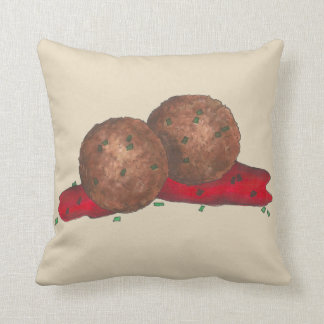 Italian Food Meatballs Marinara Sauce Cooking Cushion