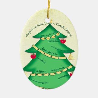 Italian food pasta culinary Christmas ornament