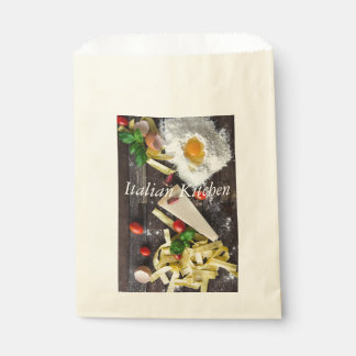Italian Food Personalize Text Favour Bag