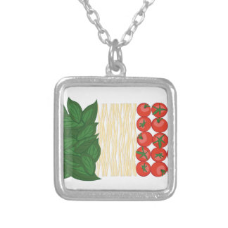 Italian Food Silver Plated Necklace